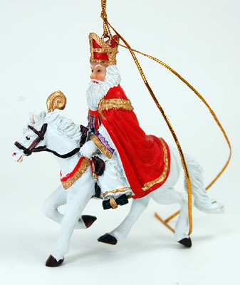 Sinterklaas Riding Horse Ornament
