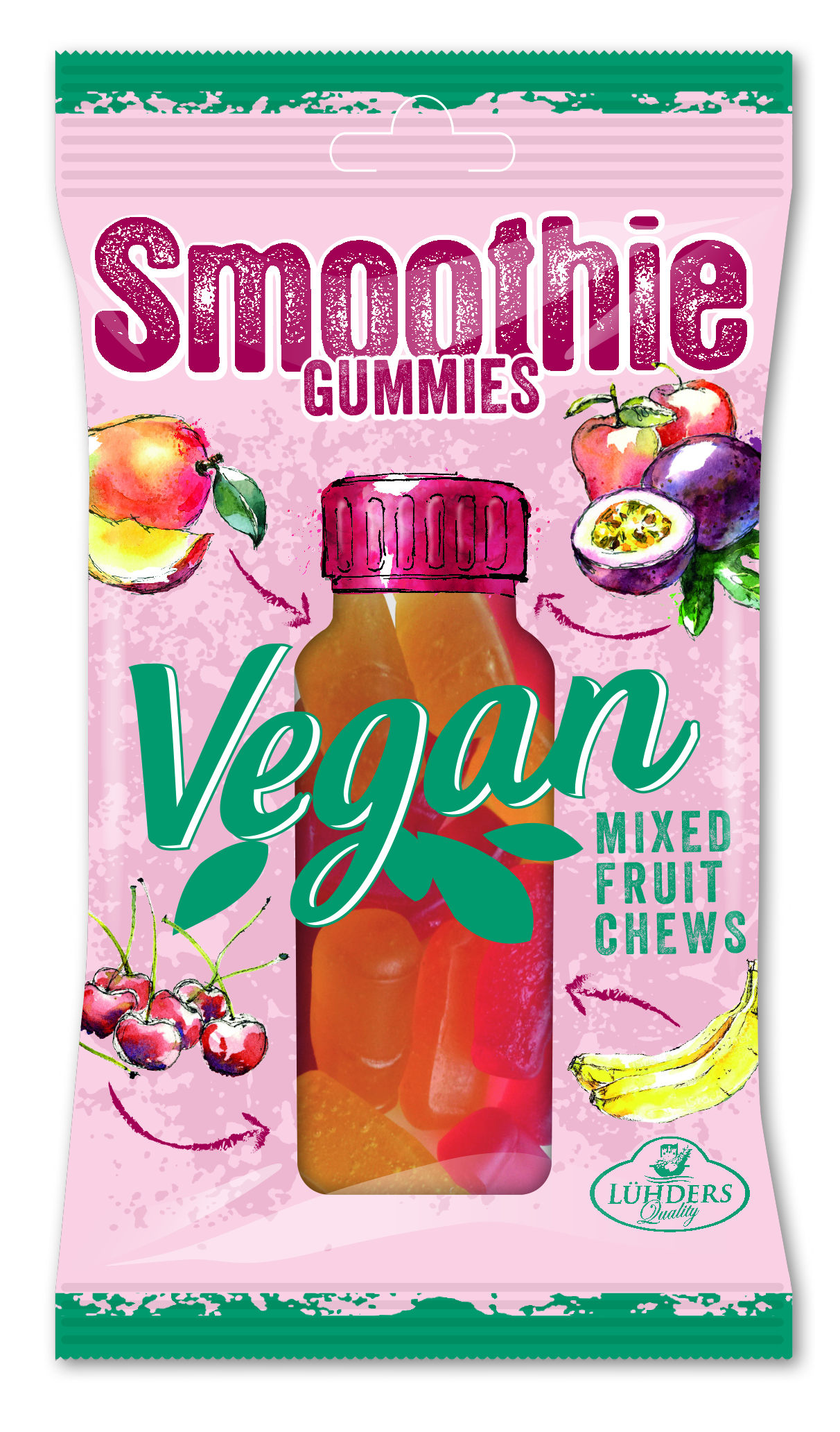 Luehders Vegan Smoothie Gummies Mixed Fruit