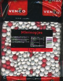 Bulk Mint Nopjes Licorice salty (Red/White Buttons) (1 LEFT)