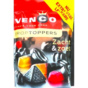 Venco Droptoppers Zacht & Zoet (orange/red) (OUT OF STOCK)